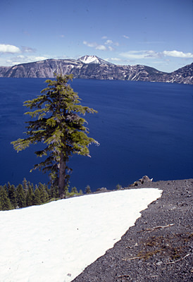 Thumbnail image ofCrater Lake in spring.