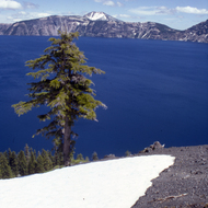 Crater Lake in spring.