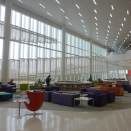 Part of the James B. Hunt, Jr. Library at North Carolina State University.