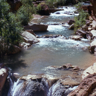 Havasu Creek, with its travertine dams.