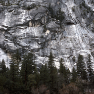 A granite cliff in Yosemite.