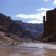 Supai Spire, near 23 1/2 rapid on the Colorado River.