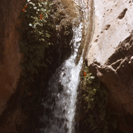 A small waterfall on Hermit Creek in the Grand Canyon.