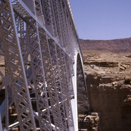 Navajo Bridge over the Colorado River.