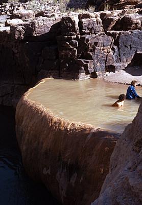 Thumbnail image ofWhitewater rafters enjoying Pumpkin Hot Springs...