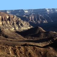 A Grand Canyon panorama.