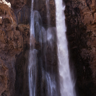 Mooney Falls in the land of the Havasupai People.