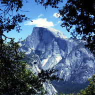 A view of Half Dome in Yosemite National Park.