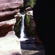 The small Deer Creek waterfall.