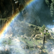 A rainbow made by Vernal Falls.