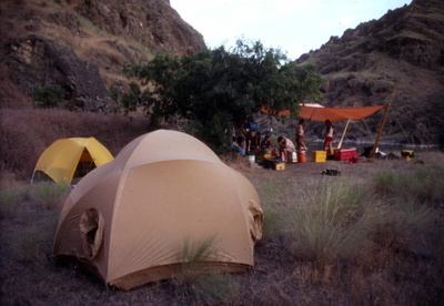 Thumbnail image ofA private river trip camp on the Colorado River...