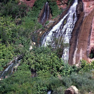 A view of Vasey's Paradise in Marble Gorge, the Grand Canyon.