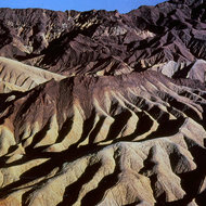A view of Death Valley from Zabriskie Point.