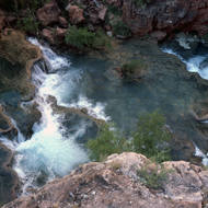 Looking down on Havasu Creek.