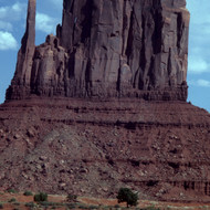 The East Mitten butte in Monument Valley.
