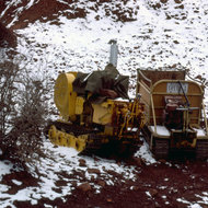 Machinery used to maintain the Kaibab Trail.