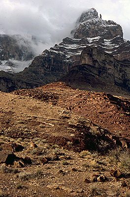 Thumbnail image ofThe Grand Canyon in winter: a contrast of snow...