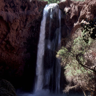 Mooney Falls on Havasu Creek in the Grand Canyon.