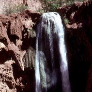 Mooney Falls in Havasupai Canyon.