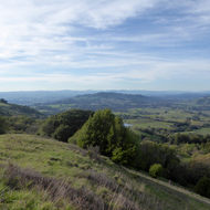 A view of Bennett Valley from North Sonoma Mountain Regional Park, Sonoma County.