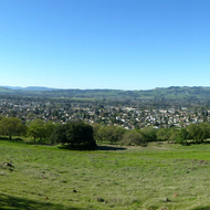 A panorama of lower Sonoma Valley in Spring from the Montini Open Space Preserve.