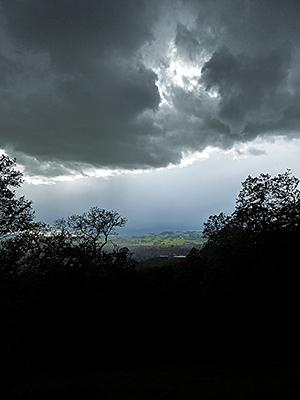 Thumbnail image ofA Spring storm over Sonoma, California, as seen...