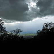 A Spring storm over Sonoma, California, as seen from the Sonoma Overlook Trail.