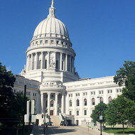 The Capitol building in Madison, Wisconsin.