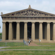 A full-scale replica of the Parthenon of Athens, Greece in Nashville, Tennessee.
