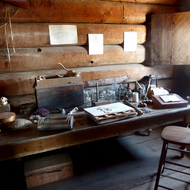 Historic artifacts at Fort Ross State Historic Park.