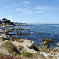 A view of Monterey Bay from the public path between Monterey and Pacific Grove.