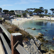 A view of the Monterey harbor.