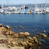 Beautiful water in the Monterey harbor.