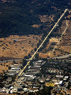 Thumbnail image ofThe Stanford Linear Accelerator as seen from a...