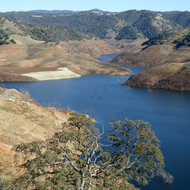 New Melones Reservoir.