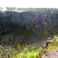 Puhimau crater at Hawai'i Volcanoes National Park.
