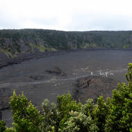 Kilauea Iki Crater at Hawai'i Volcanoes National Park on the Big Island.