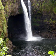 Rainbow Falls State Park on the Big Island of Hawai'i.