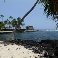 Pu'uhonua O Honaunau Park National Historic Park on the Big Island of Hawai'i.