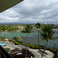 A view from a room at the Hilton Waikoloa Village on the Kona Coast of the Big Island of Hawai'i.