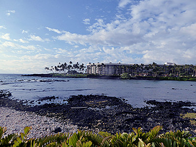 Thumbnail image of A view of the Hilton Waikoloa Village on the Kona...