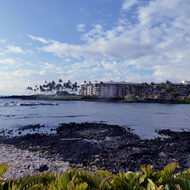 A view of the Hilton Waikoloa Village on the Kona Coast of the Big Island of Hawai'i.