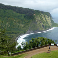 The entrance to the Waipi'o Valley on the Big Island of Hawai'i.
