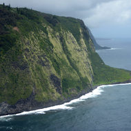 A bluff at the entrance to the Waipi'o Valley on the Big Island of Hawai'i.