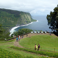 The overlook to the entrance of the Waipi'o Valley.