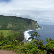 The entrance of the Waipi'o Valley.