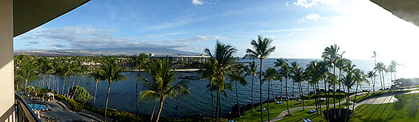 Thumbnail image ofA panoramic view from a hotel on the Big Island.
