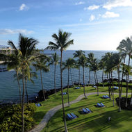 A view from a hotel on the Big Island.