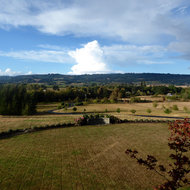 A dramatic cloud as seen from the Willamette Valley.