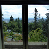 A view from the Pittock Mansion overlooking Portland, Oregon.